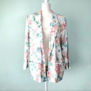 Vintage Longline Boxy Floral Blazer